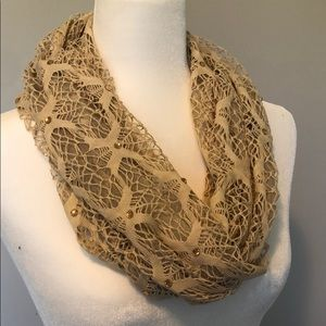 Woven scarf with gem embellishments